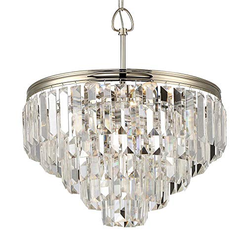 Waterbury Design Works 10514 Triomphe 5-Tier Crystal Chandelier, Polished Nickel