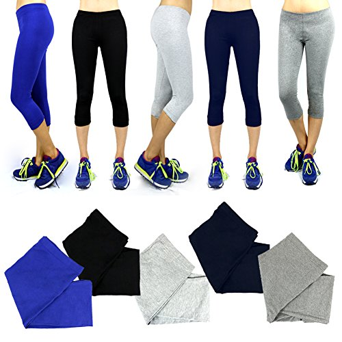 The Elixir Fashion Womens Capri Yoga Pant Leggings Workout