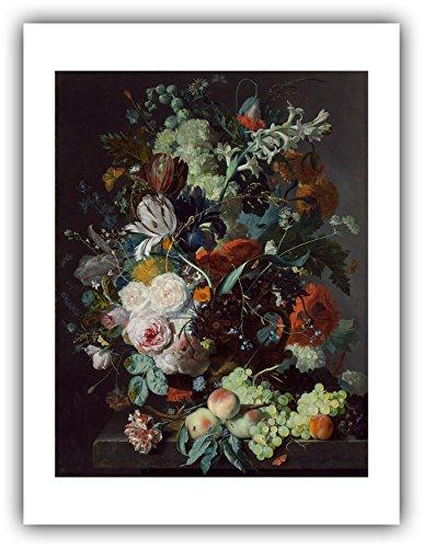 Renfield's Fine Art - Jan Van Huysum : ''Still Life with Flowers and Fruit'' (c.1715) — Giclee Fine Art Print