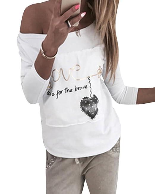 Kasen Mujer Camisetas Manga Larga Flor Pintura Moda Tops Blusa Sudaderas Camisas: Amazon.es: Ropa y accesorios