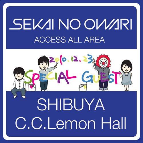 SEKAI NO OWARI(세카이노 오와리) 2010.12.23 SHIBUYA C.C.Lemon Hall [DVD]