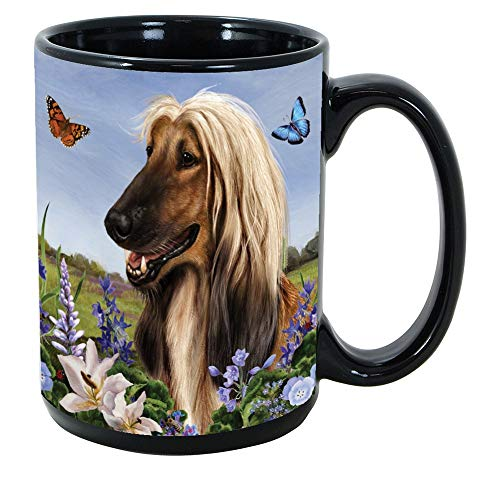 Imprints Plus Dog Breeds (A-D) Afghan Hound 15-oz Coffee Mug Bundle with Non-Negotiable K-Nine Cash (afghan - Mother Afghan