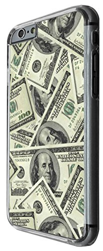 970 - Cool fun 100usd notes collage Design For iphone 5C Fashion Trend CASE Back COVER Plastic&Thin Metal -Clear