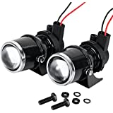 Astra Depot 2x 55W H3 Projector Glass Lens Driving Fog Lamp Light Halogen Bulb + Bracket Kit