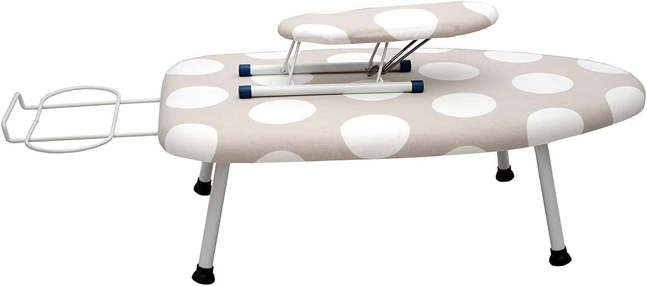 """AKOZLIN Ironing Board 30"""" L x 14''W x 7.3''H Table for Ironing Clothes Tabletop Ironing Board with Fixed Sleeve Tabletop Folding Legs Folding Ironing Board with Cotton Cover"""