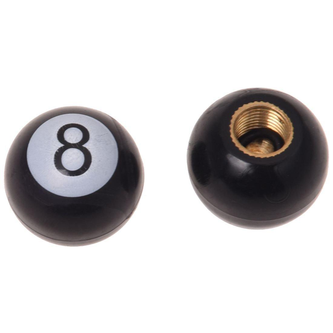 TOOGOO 8 capuchon de soupape spherique Velo noir universel R
