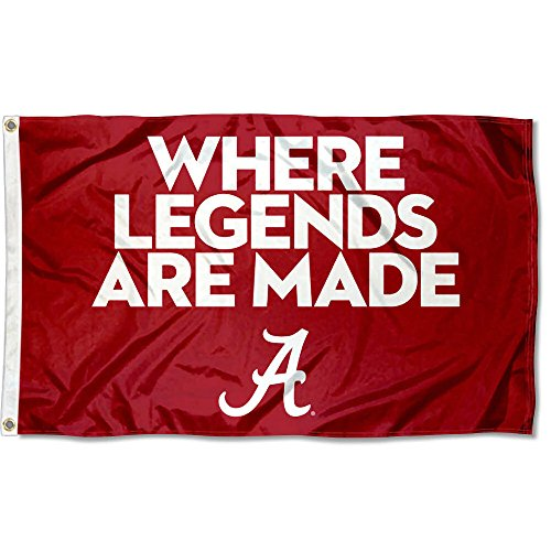 College Flags & Banners Co. Alabama Crimson Tide Where Legends are Made Flag
