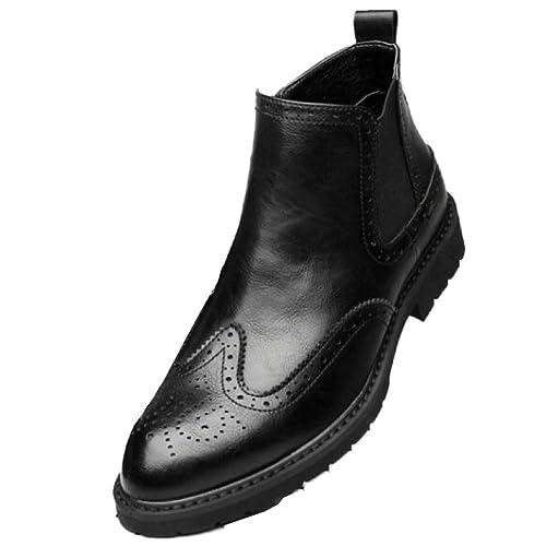 Botines para Hombres De Cuero Genuino MartinBoots Negocios Botas De Chukka Zapatos Ocasionales De Trabajo Ligero Y Transpirable: Amazon.es: Zapatos y ...