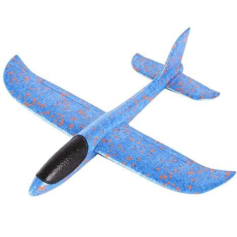 3db3c3b39f Ouinne Planos de Espuma los Planeadores Glider Juguete Lanzamiento de Mano  Modelo de Avion (Azul