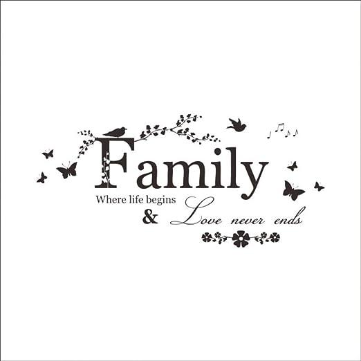 USAYB El Amor De La Familia Nunca Termina Cita Vinilo Tatuajes De ...