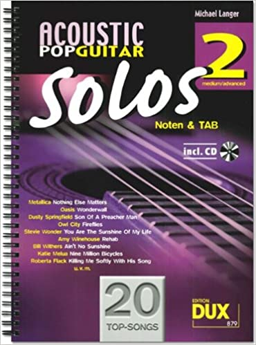 Solos de Guitarra Acústica Pop Band 2 + CD incluye púa - -20 ...