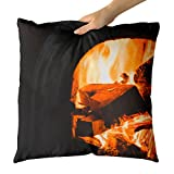 Westlake Art - Fireplace Fire - Decorative Throw Pillow Cushion - Picture Photography Artwork Home Decor Living Room - 18x18 Inch (8C64-6A924)