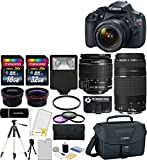 Cheap Canon EOS Rebel T5 18MP EF-S Digital SLR Camera USA warranty with canon EF-S 18-55mm f/3.5-5.6 IS II Zoom Lens & EF 75-300mm f