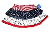 WM Red White and Blue Jersey Tulle Tutu Skirt with Stars and Stripes Design 2T