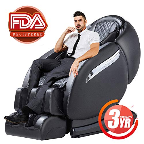 Massage Chair Recliner, Zero Gravity Full Body SL-Track, Shiatsu Electric Massage Chair with Stretching, Tapping, Heating,Yoga Massage Back and Foot Massagers (Black)
