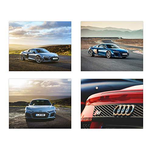 Insire Audi Poster R8 | Set of Four 8x10 Sports Car Prints| Audi R8 | Wall Art
