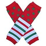 Christmas Stripe & Polka Dot - Leg Warmers - Infant, Baby, Toddler, Little Girl, Boy