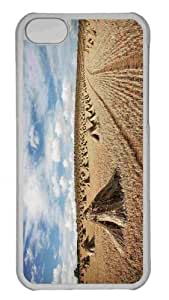 LJF phone case Customized ipod touch 4 PC Transparent Case - Straw Field 2 Personalized Cover