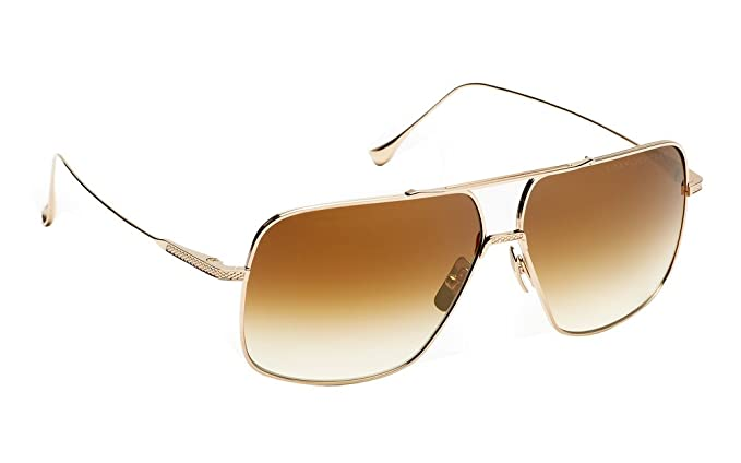 7626e4cbb49 DITA FLIGHT.005 Aviator Sunglasses in Gold brushed Frame and Brown gradient  lens  Amazon.co.uk  Clothing