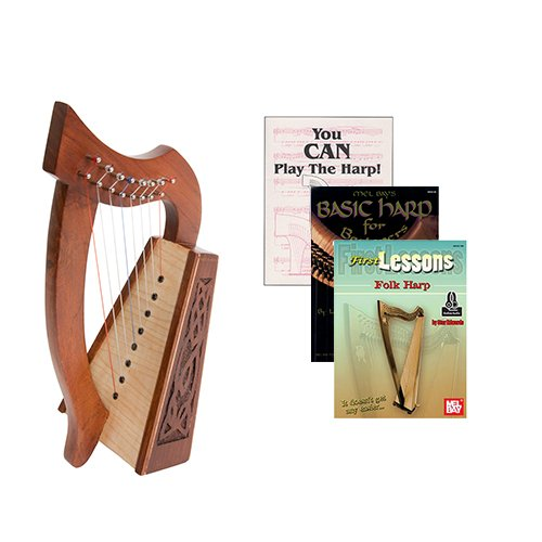 Homeschool Music Lily Harp w/Introduction to Harp Book Bundle + First Lessons Folk Harp by Homeschooling Harps