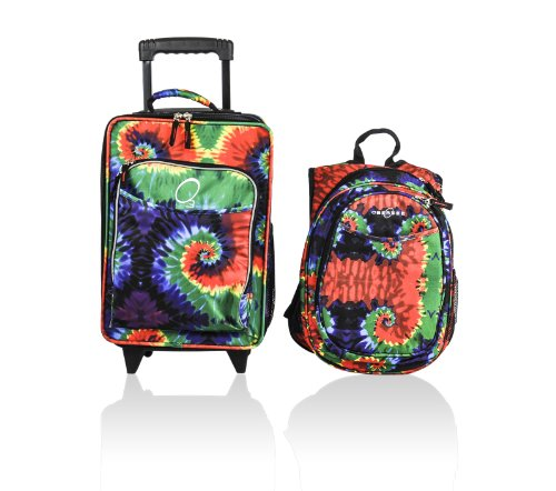 obersee-kids-luggage-and-backpack-set-with-integrated-cooler-tie-dye
