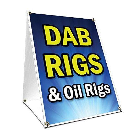 "A-frame Sidewalk Dab Rigs & Oil Rigs Sign With Graphics On Each Side | 18"" X 24"" Print Size from SignMission"