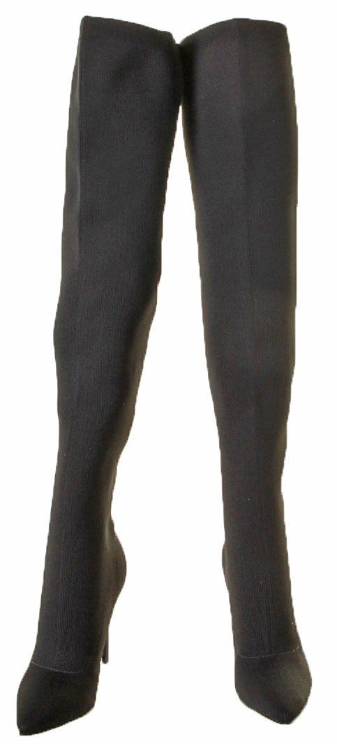 KENDALL + KYLIE Women's Anabel II Thigh High Stretch Boots B0718ZJHYP 9 B(M) US|Black