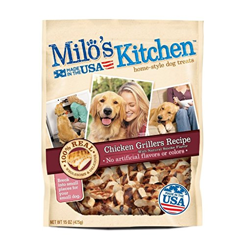 Milos Kitchen Home Style Treats Chicken Grillers 2 Packs 15o