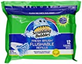 Scrubbing Bubbles Fresh Brush Flushable, Citrus, 12-Count Refills  (Pack of 12)