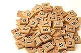 100 Scrabble Tiles - NEW Scrabble Letters - Wood Pieces - 1 Complete Set - Great for Crafts, Pendants, Spelling
