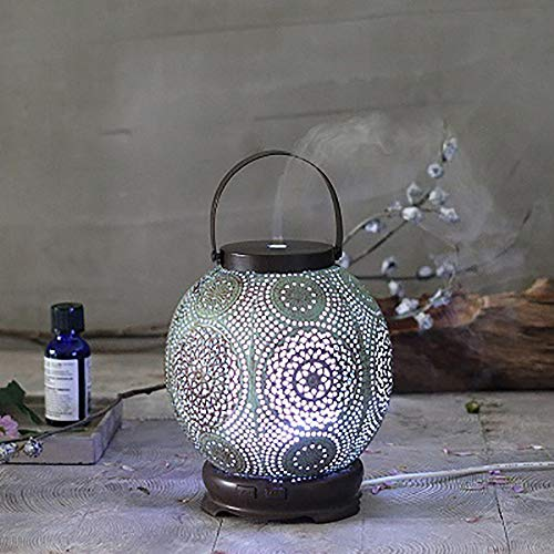 JUZEN 120ML Handmade Wrought Iron Wire Pot Air Household Aromatherapy Machine Humidifier Electronic Aromatherapy Essential Oil Diffuser Household Lantern
