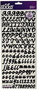 Sticko Letters/Numbers Sticker Value Pack, Black, Gold and Silver, 840-Pack