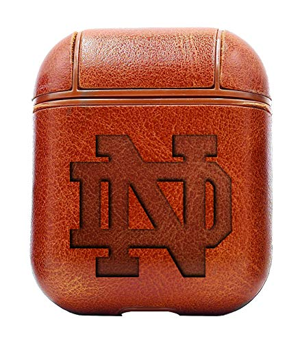 - UND University of Notre Dame (Vintage Brown) Air Pods Protective Leather Case Cover - a New Class of Luxury to Your AirPods - Premium PU Leather and Handmade exquisitely by Master Craftsmen