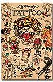 Ed Hardy Tattoo Collage Love Kills Slowly Skull Dagger Roses Geisha Tattoo Art Poster 24x36
