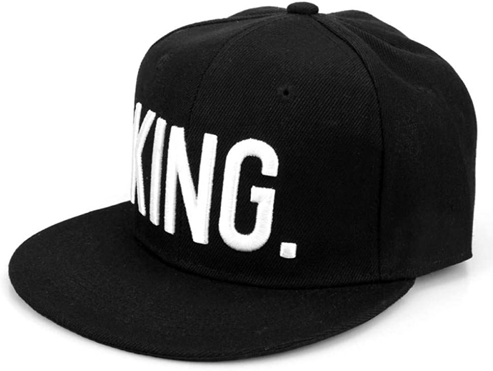 ZSOLOZ Baseball Caps King Queen Letters Adjustable Black Caps Women Men Lover Couple Hats Summer Outdoor Sport Riding Hat Cap Casquette Snapback