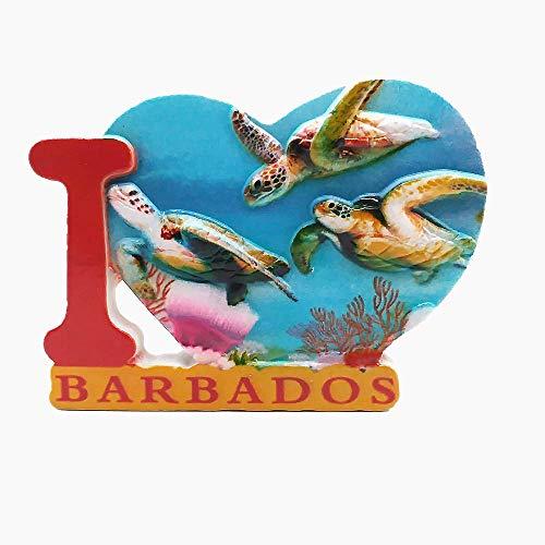 3D Sea Turtle of Barbados Caribbean Fridge Magnet Souvenir Gift,Home & Kitchen Decoration Magnetic Sticker,Barbados Refrigerator Magnet Collection