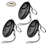 Personal Alarms, Beyond 130db Safe Sound Keychain Safety Self Defense Kits Security Panic Rape Alarm with Flashlight for The Elderly Kids Students Women Runners- 3 Packs Review