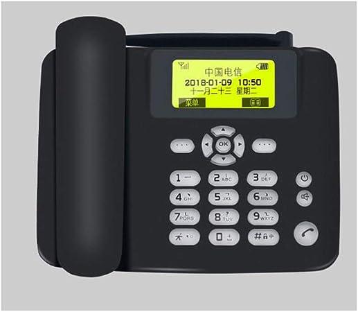 MSNDIAN Teléfono Fijo inalámbrico Tarjeta 3G Asiento de teléfono Fijo Oficina en casa Negocio Anciano Teléfono Artículos para el hogar teléfono (Color : Negro): Amazon.es: Hogar