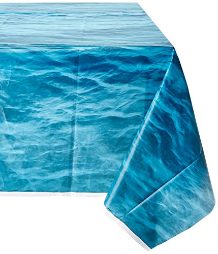 Nautical Table Decoration Ideas (Ocean Waves Plastic Tablecloth, 108