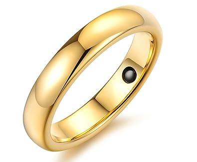 Amdxd Jewelry Damen Verlobungsring Edelstahl Ringe Gold Arc Design