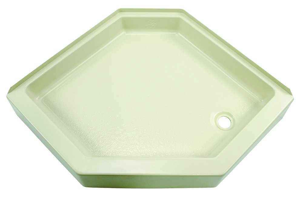 Lippert 209415 Better Bath 32'' x 32'' Neo Angle RV Shower Pan Right Hand Drain Parchment
