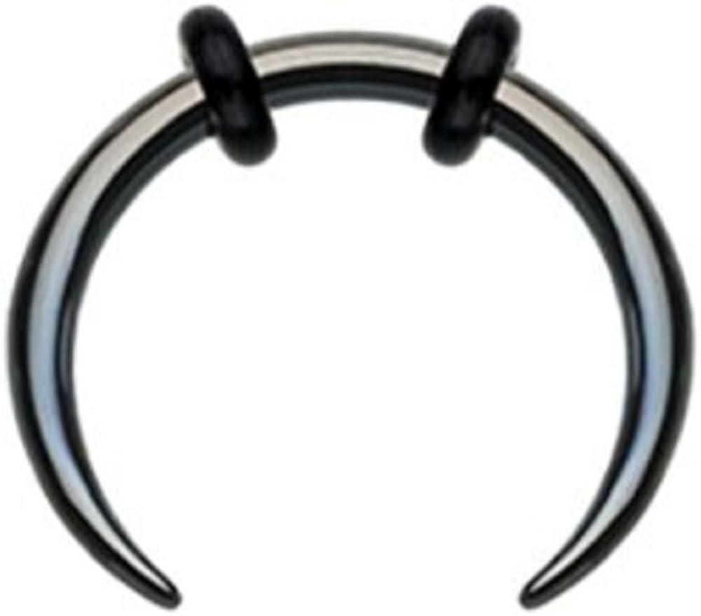 1pc Paved 11-Gem Color IP Septum Clicker 316L Surgical Steel 16g Nose Ring