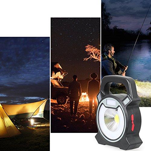 T-Sun COB LED Portable Work Light 5W 1200Lumens with Micro-USB Charging Emergency Work Light Camping Lantern Power Light by T-SUN (Image #6)