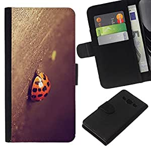 All Phone Most Case / Oferta Especial Cáscara Funda de cuero Monedero Cubierta de proteccion Caso / Wallet Case for Samsung Galaxy A3 // Ladybug
