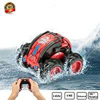 Amazon.com deals on DoDoMagxanadu Waterproof RC Remote Control Stunt Car