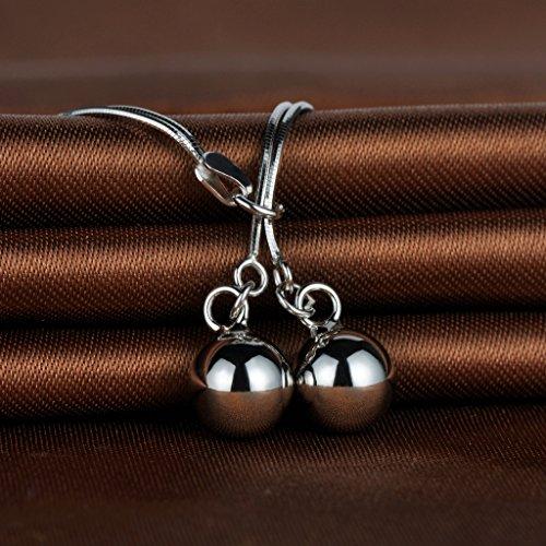 Infinite U Bracelet en argent 925 pur double bille élégant la chaîne à deux couches cadeau pour fillette
