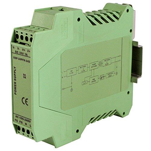 ASI ASI462103 DIN Rail Mount, 24W Power Supply, 24 VDC, 1 amp Output, 90 to 264 VAC Input (Din Power Mount Supply Rail)