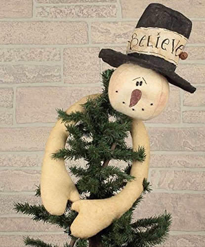 Honey In Me Believe Snowman Tree (Primitive Christmas)