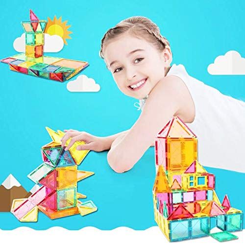 Magnetic Building Blocks 82 Pcs, Magnetic Tiles Educational Construction Toys for Boys and Girls with Giftbox (82 PCS) by Baobe (Image #2)