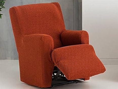Lanovenanube Eysa - Funda sillón Dorian Relax XL Pies Juntos Color Caldera C09